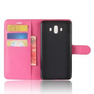 Tasche Wallet Premium Pink für Huawei Mate 10 Hülle Case Cover Etui Schutz Neu - Vorschau 4