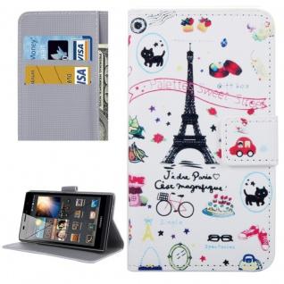 Schutzhülle Muster 55 für Huawei P9 Lite Bookcover Tasche Case Hülle Wallet Etui