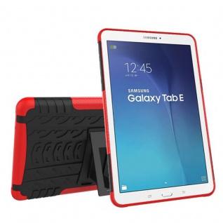 Hybrid Outdoor Schutzhülle Rot für Samsung Galaxy Tab E 9.6 SM T560 Tasche Case