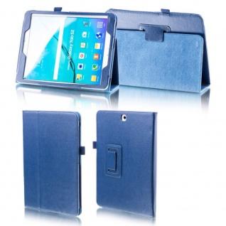 Für Samsung Galaxy Tab A 10.5 T590 T595 Dunkelblau Kunstleder Hülle Cover Tasche