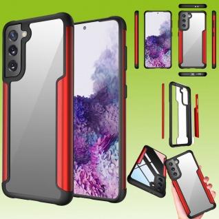 Für Samsung Galaxy S21 Hybrid Iron Man Rot Handy Tasche Etuis Hülle