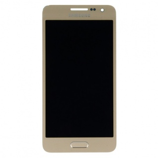Display LCD Komplettset Touchscreen Gold für Samsung Galaxy A3 A300 A300F Neu