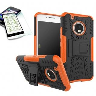 Hybrid Case 2teilig Orange für Lenovo Moto G5 Plus + Hartglas Tasche Hülle Neu - Vorschau 1