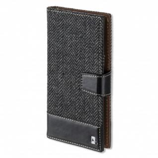 Universal Schutzhülle Flip Tasche UltiMAG MILANO bis 5.2 Zoll Hülle Etui schwarz