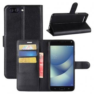 Tasche Wallet Premium Schwarz für ASUS Zenfone 4 Max ZC554KL Hülle Case Cover