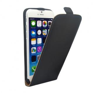 Fliptasche Deluxe Schwarz für Apple iPhone 6 4.7 Tasche Hülle Zubehör Kappe Neu