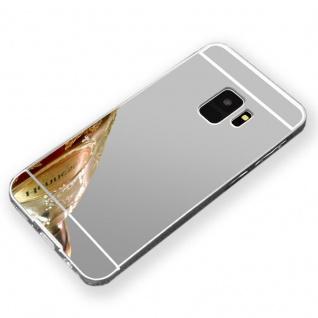 Mirror Alu Bumper 2teilig Silber für Samsung Galaxy S9 G960F Tasche Hülle Case