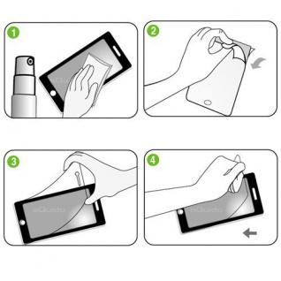 2x Displayschutzfolie Schutzfolie Folie für Apple iPhone 6 4.7 Zubehör + Tuch - Vorschau 2