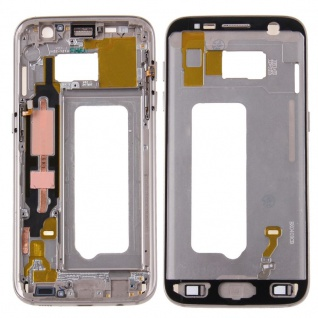 Gehäuse Rahmen Deckel kompatibel Samsung Galaxy S7 G930 G930F Kleber Gold