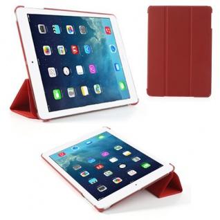 Deluxe Smartcover Schutz Case Etui Zubehör für Apple iPad Air Case Hülle rot