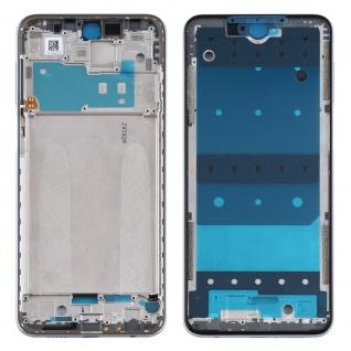 Gehäuse Rahmen Mittelrahmen Deckel für Xiaomi Redmi Note 9S Silber Ersatzteil