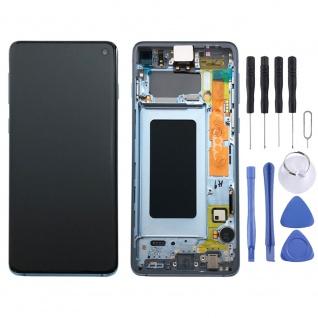 Samsung Display Full LCD Komplettset GH82-18850C Blau für Galaxy S10 G973F 6.1