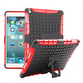 Für Apple iPad 9.7 2018 Hybrid Outdoor Schutzhülle Case Rot Tasche Cover Etui