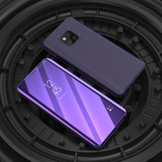 Für Huawei Mate 20 Pro Clear View Smart Cover Lila Tasche Hülle Wake UP Case Neu