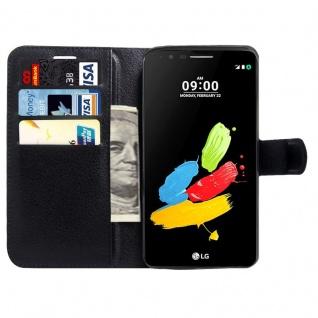 Tasche Wallet Premium Schwarz für LG Stylus 3 Hülle Case Cover Etui Schutz Neu - Vorschau 2