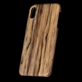 Für Apple iPhone XS MAX 6.5 Zoll Holz Wald Muster 5 Tasche Hülle Hard Cover Neu
