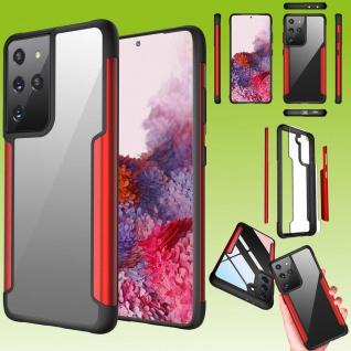 Für Samsung Galaxy S21 Ultra Hybrid Iron Man Rot Handy Tasche Etuis Hülle