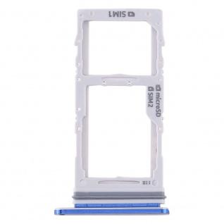 Dual Sim / Micro SD Karten Halter für Samsung Galaxy Note 10 Plus Blau