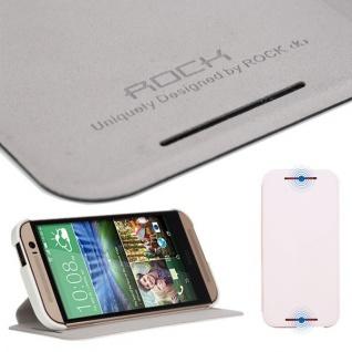 Original Rock Smartcover Weiss für HTC One 2 M8 M 8 2014 Hülle Case Cover Neu