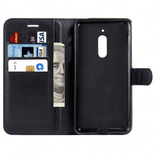 Tasche Wallet Premium Schwarz für Nokia 6 Schutz Hülle Case Cover Etui Zubehör - Vorschau 5