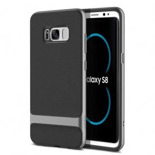 Original ROCK Silikon Case Tasche Schwarz/Grau für Samsung Galaxy S8 Plus G950F