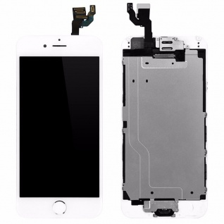 All in One Display LCD Komplett Einheit Touch kompatibel Apple iPhone 6 Weiß
