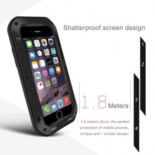 Love MEI Outdoor Metall Bumper Hülle für Apple iPhone 7 Plus Schutzhülle Schwarz - Vorschau 3