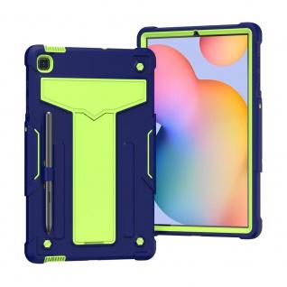 Für Samsung Galaxy Tab S6 Lite aufstellbare Tablet Schutzhülle Cover Blau Grün