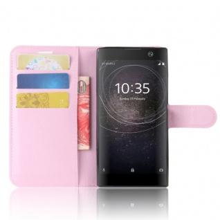 Tasche Wallet Premium Rosa für Sony Xperia XA2 Hülle Case Cover Schutz Etui Neu - Vorschau 5