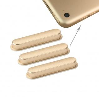 3 Pcs Side Keys für Apple iPad Air 2 Gold Button Knöpfe Ersatz Zubehör Reparatur