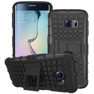 Hybrid Case 2 teilig Robot Schwarz für Samsung Galaxy S6 Edge G925 G925F Hülle