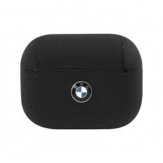 BMW Apple AirPods Pro Leder Cover Schwarz Schutzhülle Tasche Leather Case Etui