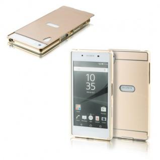 Alu Bumper 2 teilig Abdeckung Gold für Sony Xperia Z5 5.2 Zoll Tasche Hülle Case