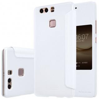 Premium Nillkin Smartcover Weiß für Huawei P9 Plus Tasche Hülle Case Schutz Neu