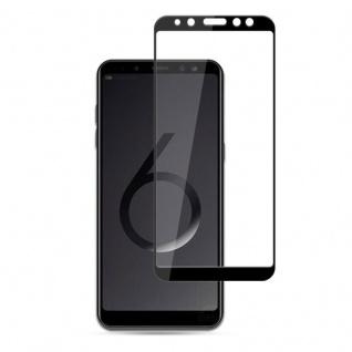1x 3D 0, 3 mm H9 Hart Glas Schock Folie Schwarz für Samsung Galaxy A9 A920F 2018