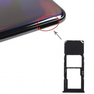 Sim Karten Halter für Samsung Galaxy A70 Schwarz Card Tray Micro SD Ersatzteil