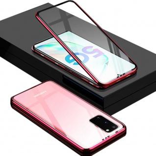 Beidseitige Magnet Glas Bumper Handy Rot für Samsung Galaxy Galaxy S20 Plus Case