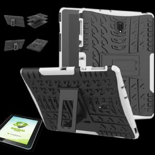 Für Samsung Galaxy Tab A 10.5 T590F Hybrid Outdoor Weiß Tasche 0.4 H9 Hart Glas