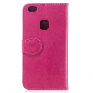 Tasche Wallet Einhorn Pink für Huawei P10 Lite Hülle Case Cover Etui Schutz Neu - Vorschau 3