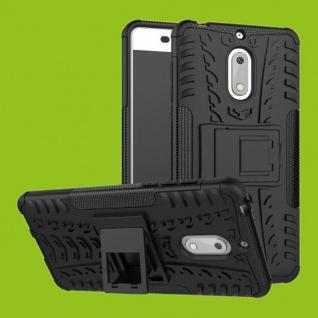 Für Nokia 3.1 5.2 Zoll Hybrid Case 2teilig Outdoor Schwarz Tasche Hülle Cover