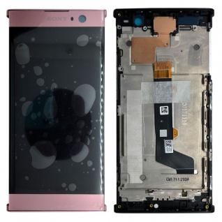 Sony Display LCD Komplett mit Rahmen für Xperia XA2 Pink Ersatz Reparatur Neu