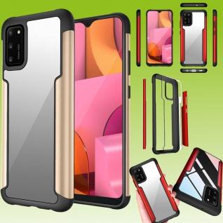 Für Samsung Galaxy A02S A025F Hybrid Iron Man Gold Handy Tasche Etuis Hülle Case