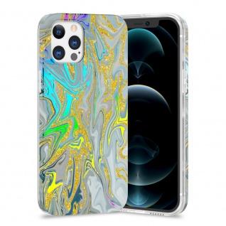 Für Apple iPhone 12 / 12 Pro TPU Watercolor Schutz Hülle Cover Etui Motiv 2