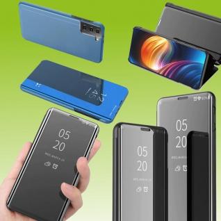 Für Samsung Galaxy S21 FE View Smart Cover Hülle Blau Handy Tasche Etuis Case