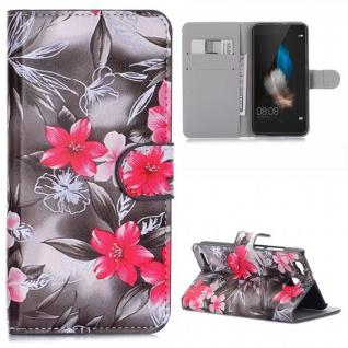 Bookcover Wallet Muster für Smartphones Tasche Hülle Case Etui Cover Schutz Top - Vorschau 3