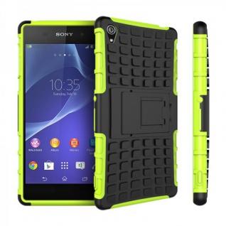 Hybrid Case 2teilig Robot Grün Cover Zubehör für Sony Xperia Z3 D6653 L55T Case