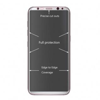 Hybrid TPU gebogene Panzerfolie Folie Weiß Schutz für Samsung Galaxy S9 G960F - Vorschau 2