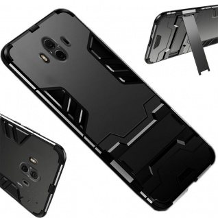 Für Huawei P Smart Plus Metal Style Outdoor Schwarz Tasche Hülle Cover Schutz