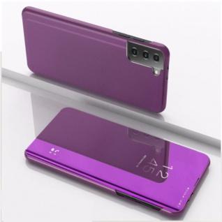 Für Samsung Galaxy S21 Plus View Smart Cover Hülle Magenta Handy Tasche Etuis
