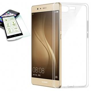 Silikoncase Transparent Tasche + 0, 3 H9 Panzerglas für Huawei P10 Plus Hülle Neu